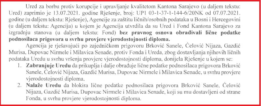 1a Ured za borbu protiv korupcije KS